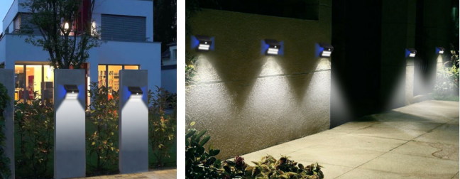 Solar Powered Outdoor Motion Lights , Solar Led Motion Sensor Light For Backyard