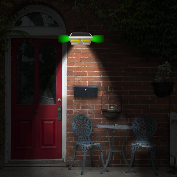 Energy Efficient Solar Outdoor Security Lights With Sensor , Waterproof Solar Garden Lights