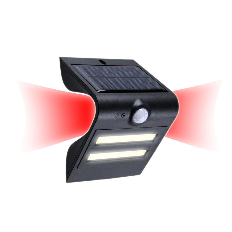 Solar Powered Led Security Motion Sensor Outdoor Light 0-8m Sensing Range