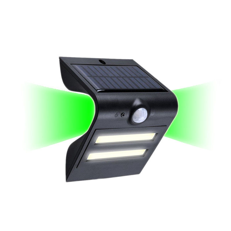 Lightweight Outdoor Solar Lights , Led Solar Sensor Light Green Color Leds