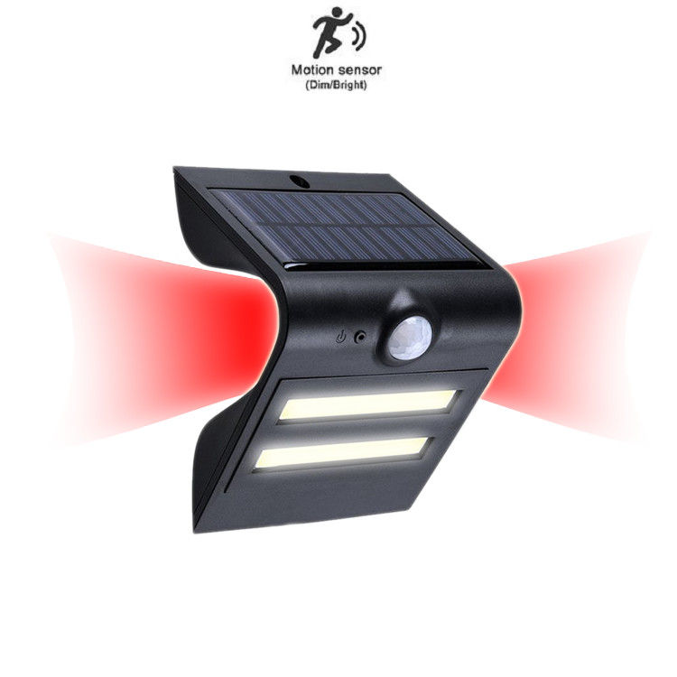 Motion Sensor Solar LED PIR Light 1.5W Led COB Walls With Colors Red