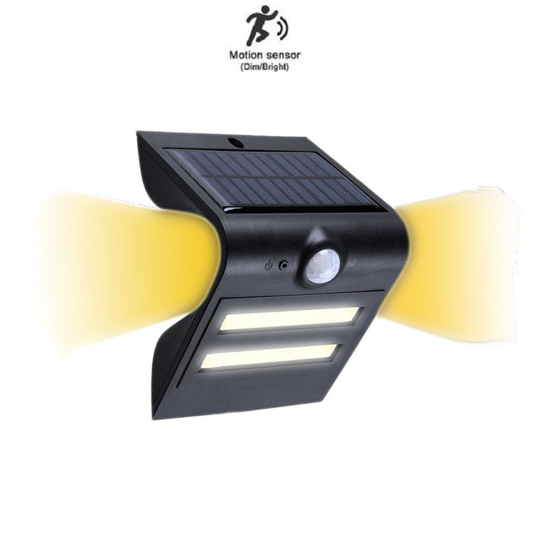 Warm Color Solar LED PIR Light 1.5W COB Led , 1-2 Nights Discharging Time