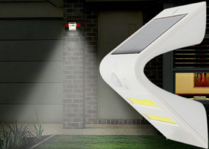 Road Solar Motion Wall Light , Outdoor Solar Pir Security Light Rechargeable