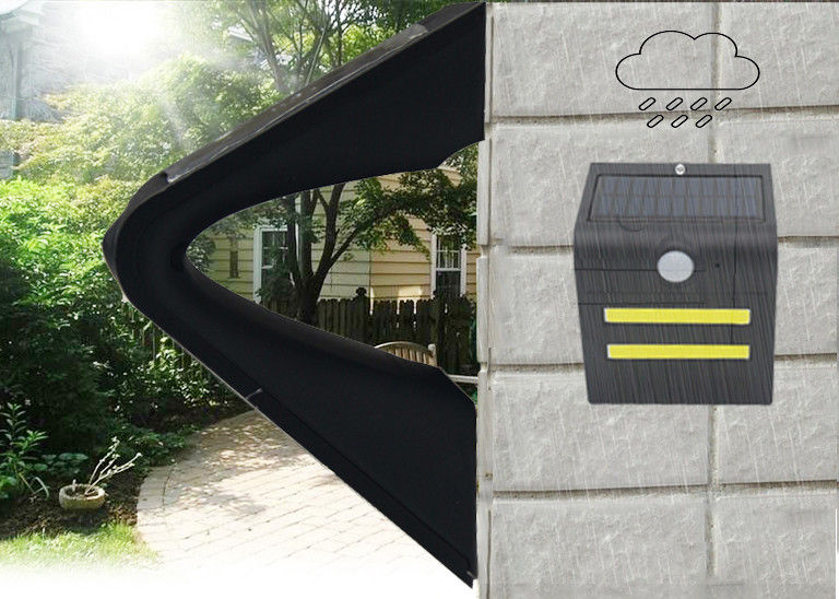 Black Solar Led Motion Sensor Light , Solar Powered Outdoor Wall Lights