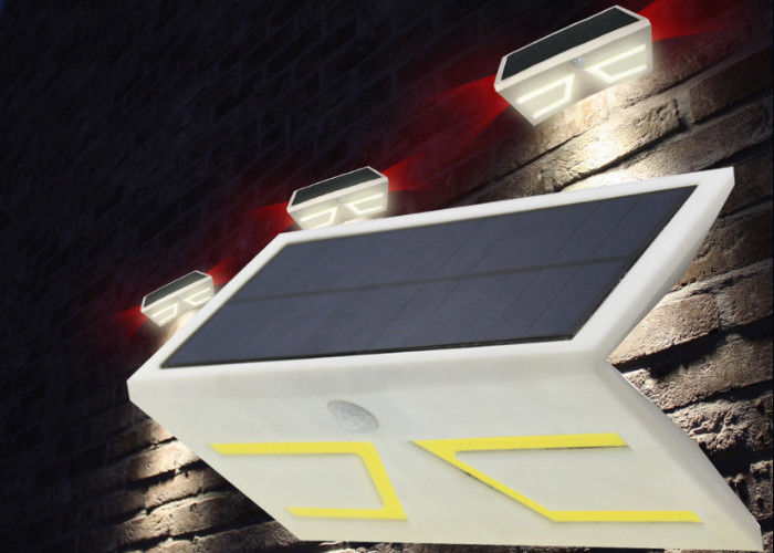 Mini Decorative Solar LED PIR Light , Solar Powered Movement Sensor Light