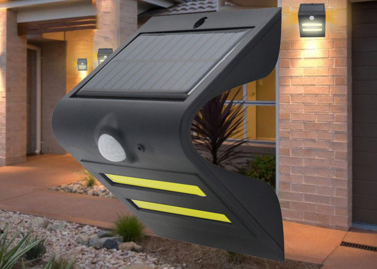 Small LED Solar Outdoor Wall Lights Exterior Motion Lights 6-8 Hours Charging Time