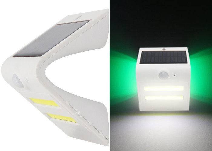 Cool White COB Solar Powered LED Wall Light Waterproof With PIR Motion Sensor