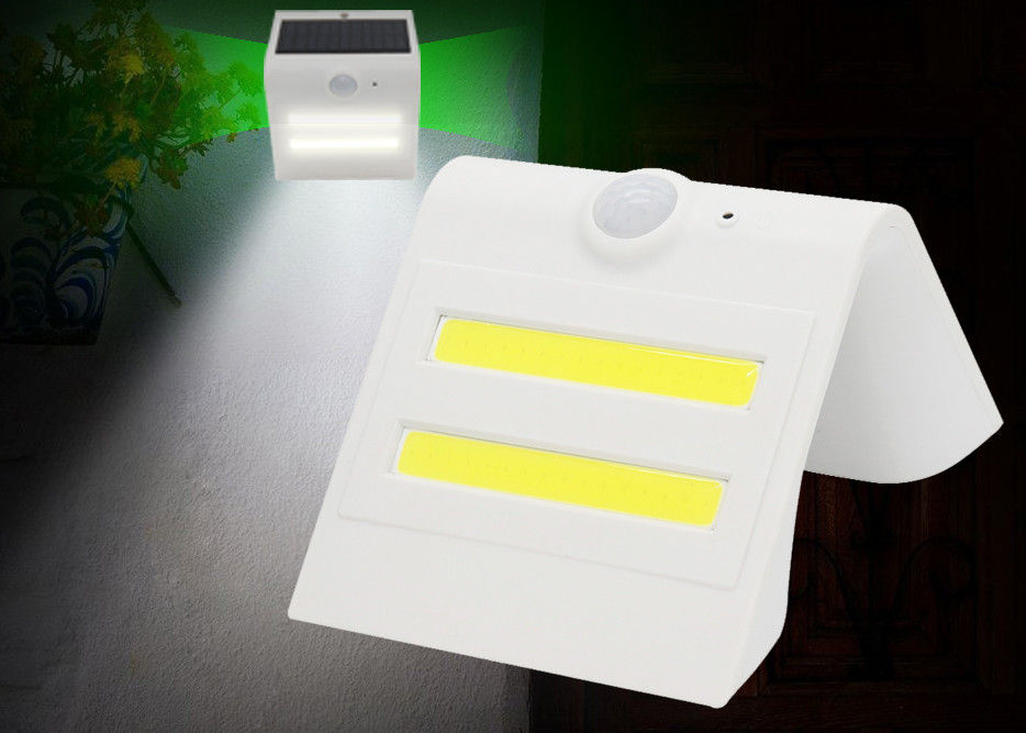 150LM Solar Security Sensor Light , ON OFF DIM AUTO Solar Powered Porch Light