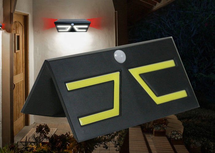 Hanging Solar Outdoor Wall Lights Motion Activated For Path Yard Above Ground Walkway