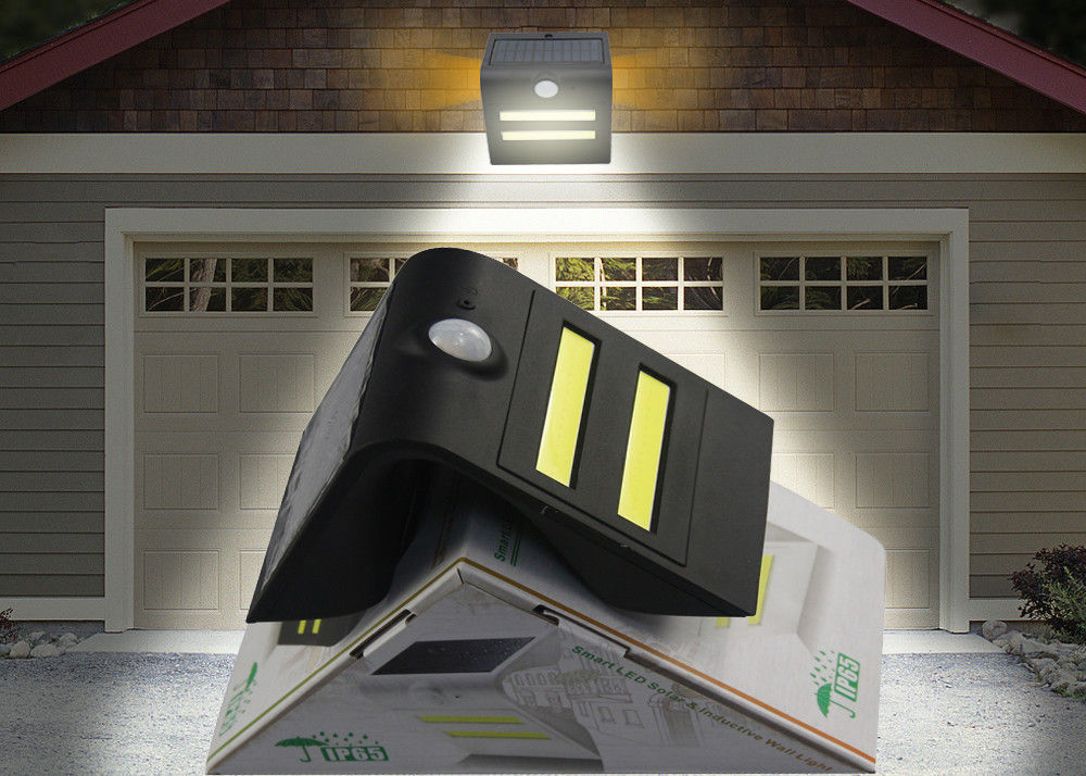 Motion Sensor Solar Garden Lights Energy Saving Water Resistant COB 6000K