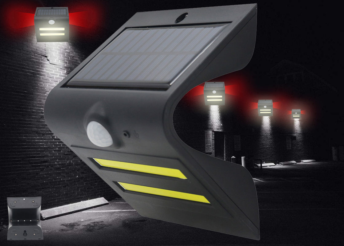 Mini PIR Wireless Solar Powered Motion Sensor Light Easy Installation For Wall