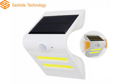 China Outdoor Warm Color Solar Powered Outdoor Sensor Lights 0-8M Sensing Range factory