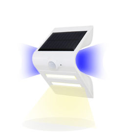 China White Solar Sensor Motion Light , Solar Powered Outdoor Wall Light With Pir factory