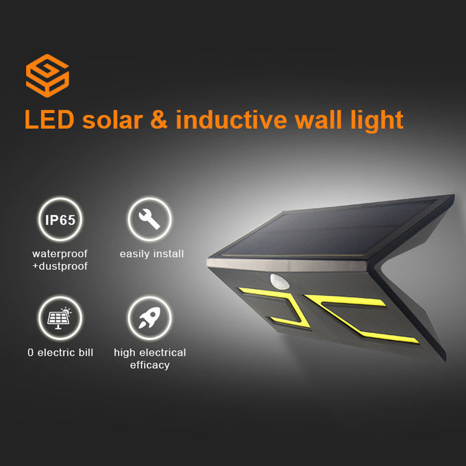 Rainproof IP65 Solar Powered Motion Detector Lights PIR Sensor DIY Wall Installation